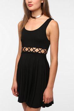 Pins and Needles Knit Front Cutout Circle Dress  #UrbanOutfitters