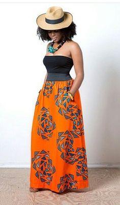 Check out These Glamorous, Classy And Stylish Ankara Skirts/Trousers - Wedding Digest Naija African Inspired Fashion, African Print Fashion, Africa Fashion, Fashion Prints, African Prints, African Attire, African Wear, African Women, African Dress