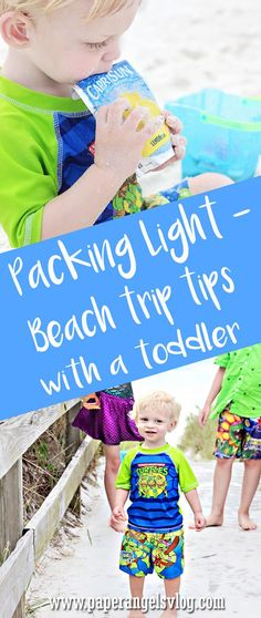 Packing Light- Beach Trip Tips with a Toddler - Paper Angels
