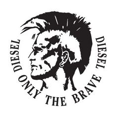 cool image. only black and white. like the diesel on each side facing different directions of other text. all around great logo