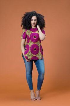 African Print Ubon Top