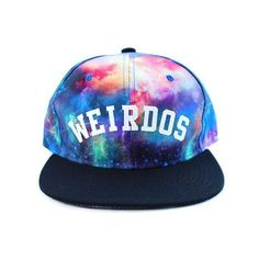 Weirdos Snapback Hat in Galaxy Print ❤ liked on Polyvore featuring  accessories 83e9f07fbcc3