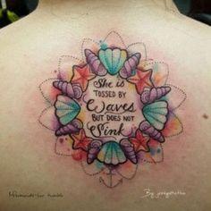 🌊 Mermaids-luv 🌊 — Mermaids and tropical tattoos 🌊🐚🐠🐙🐟🐠🐳🐬 Source tattoo designs, tattoo, small tatto Tattoo Bein, Piercing Tattoo, Get A Tattoo, Tattoo You, Tattoo Quotes, Tropical Tattoo, Hawaiian Tattoo, Inspiration Tattoos, Tattoo Ideas