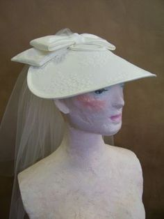 The Dresden Shepherdess: Create a Bridal Hat how to make fashion hats, bridal hat, hat pattern, red hat, dresden shepherdess