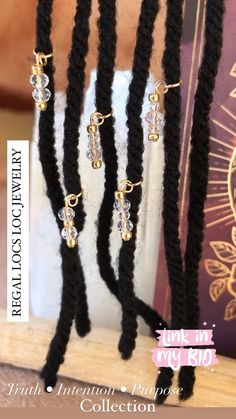 Sisterlocks, Dreadlocks, Loc Jewelry, Unique Jewelry, Black Girl Magic, Style Me, Beauty Hacks, Natural Hair Styles, Beaded Bracelets
