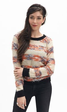 Confetti Cotton Striped Sweater // $49 and $149 December 2013 #goldentote