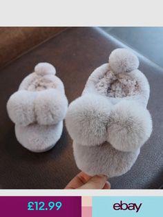 Women Men Faux Fur Fluffy Pom Pom Slip on Slippers Furry Lined Flats Shoes Cute Cute Baby Shoes, Baby Girl Shoes, Girls Shoes, Kid Shoes, Flat Shoes, Shoes Heels, Fashion Shoes, Kids Fashion, India Fashion