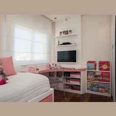 @fernandapinheiroarquitetura | Bom dia! Quarto de menina por Fernanda Pinheiro Arquitetura! Foto @vilhora #luxaflex #tamtum #bykamy #fparq #instadecor