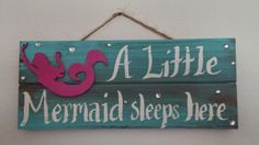 12 x 5 A Little Mermaid Sleeps Here Wall by SaltyInspirationsArt