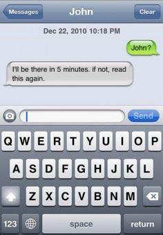 Die ultimative SMS für Zuspätkommer