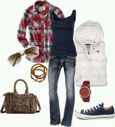 Yes... Lumberjack shirt and Allstars! So much yes!