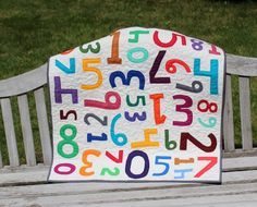 Cute idea. Perfect uni-sex baby quilt. Applique Baby Quilt, Crib Quilt, or Kids Quilt - Counting Colors
