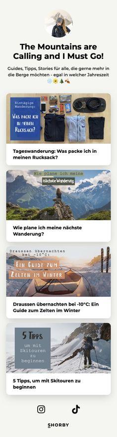 Guides, Tipps, Stories für alle, die gerne mehr in die Berge #möchten - egal in welcher #Jahreszeit ❄️🌼🌲🍂 #pinterestinspired