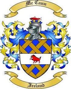 irish coat of arms family crest-McCann | We do have the McCann coat of arms / family crest from Ireland, along ...
