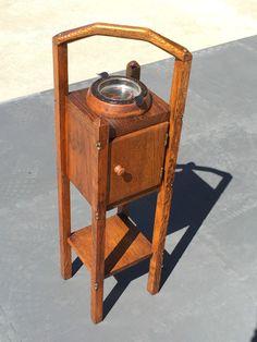 Antique Tobacco Jar Humidor Lid Bronze Setter Dog Head