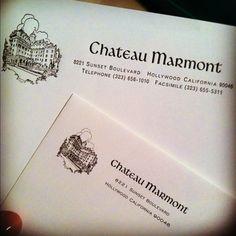 I love good hotel stationary!! Chateau Marmont