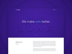 Luna Free PSD Template by Jakub Kowalczyk #Design Popular #Dribbble #shots