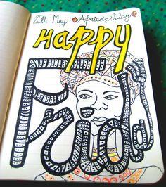 #África 's Day    -    #lettering #type # tipografía #illustration #illustrator #ilustración #design #diseño