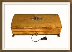 SOLD Vintage Harrods Velvet Covered Jewellery Box