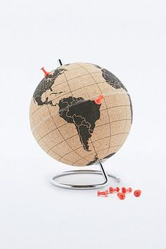 Suck UK Small Cork Globe. Pin your travels! For the best of art, food and travel head to www.theculturetrip.com