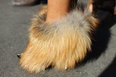 Fur low boots : Louis Vuitton