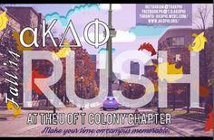 University of Toronto aKDPhi Fall 2014 #rush #aKDPhi