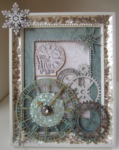"""Twiddleybitz Chipboard and Craft: Charlene's """"A Moment In Time Christmas"""" Frame Tutorial"""