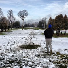 A little #snow never stopped a #canadian #golfer before. #golf #winter #camisle #fore