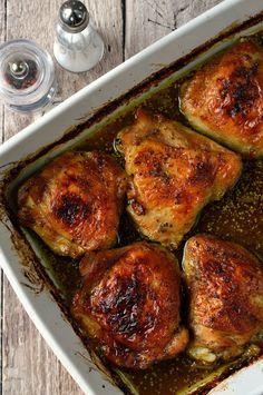 Mézes-mustáros-sörös csirkecomb