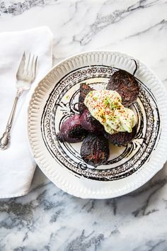 CHARRED BEETS WITH AVOCADO CREMA & CHILE-LIME SALT