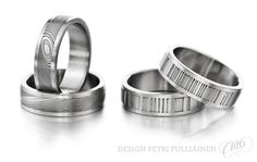 Home Petri Pulliainen Institute Of Design, Damascus Steel, Different Colors, White Gold, Wedding Rings, Rose Gold, Engagement Rings, Jewelry, Enagement Rings