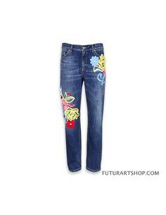 Dondup Jeans paige con ricami fiore