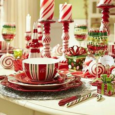 57 Beautiful Christmas Dinnerware Sets: Make your Christmas dinner a little more merry and bright with the sweet, festive touch of Pier Christmas Stripes Dinnerware Pier One Christmas, Christmas China, Christmas Dishes, Christmas Tea, Christmas Kitchen, Beautiful Christmas, Christmas Holidays, Christmas Photos, Xmas