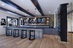 Basement Bar Designs, Home Bar Designs, Basement Ideas, Basement Bars, Glass Wine Cellar, Wine Cellars, Ultra Modern Homes, Basement Bedrooms, Basement Ceilings