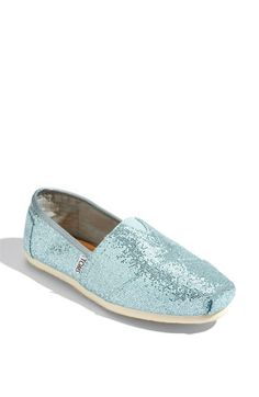 Blue Sparkly Toms