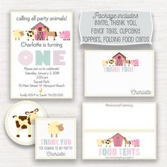 A personal favorite from my Etsy shop https://www.etsy.com/listing/525669682/barnyard-birthday-party-invitation