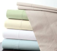 Featherweight Cotton Batiste Sheets in White, cuddledown.com