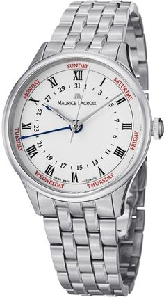 Men watches : Maurice Lacroix MasterPiece Men's Day Date Automatic Watch MP6507-SS002-112