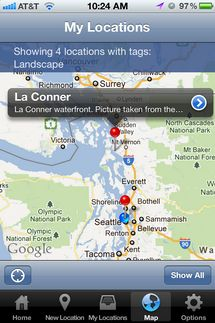 Map-A-Pic for Iphone. An App for location scouting.