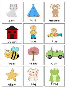 Rhyme Time Bingo and Matching Cards Literacy And Numeracy, Rhyming Activities, Kids Learning Activities, Early Literacy, English Grammar For Kids, English Phonics, Alphabet Phonics, Preschool Letters, Rhyming Pictures