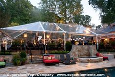 TERRACE PARTY: A lovely clear tent on the terrace is the perfect venue for any event! Tent Wedding, Wedding Groom, Dream Wedding, Wedding Dreams, Tent Decorations, Wedding Decorations, Clear Tent, Tent Lighting, Top Tents