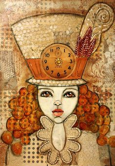 Times Ticking - Mixed Media - Heather Foust
