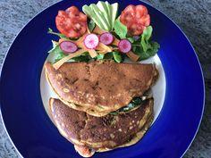 Tortilla vegana rellena de champiñones, tomate y espinacas. – Cocina Vegana por Marnix Mortier