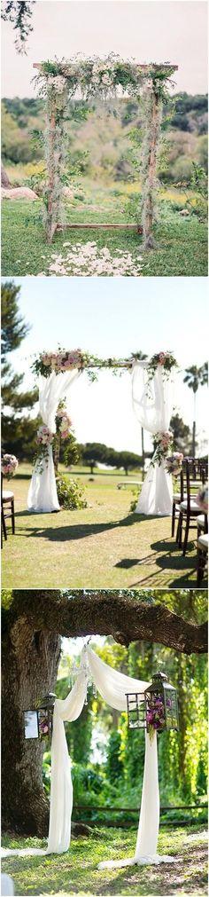 Genius Outdoor Wedding Ideas- Outdoor Wedding arch | http://www.weddinginclude.com/2016/11/genius-outdoor-wedding-ideas/