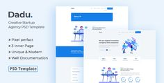 Buy Dadu - Creative Startup Agency PSD Template by Jit_Banik on ThemeForest. A multipurpose, modern, professional, clean, creative and e. Grid System, Business Flyer, Psd Templates, Creative Business, Competitor Analysis, Photoshop, Digital, Projects, Inspiration