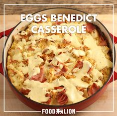 Looking for a tasty casserole dish for your next breakfast or brunch? This eggs Benedict casserole is delicious without the hassle of the traditional dish. Use either bacon, ham or Canadian Bacon.