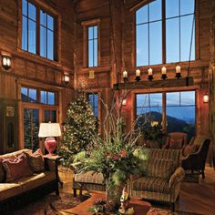 Holiday Arrangements--Mountain Style < Nature-Inspired Holiday Decor in the Mountains - Southern Living