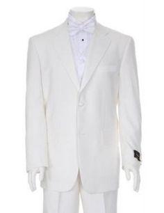 SKU#TTX778 Charming Ivory Mens Two Button Tuxedo $159