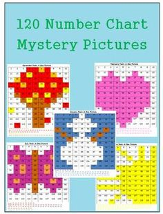 12 Months of 120 chart mystery pictures. My students go crazy over these! @Judith de Munck Williams
