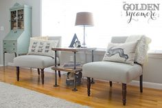 DIY Industrial Side Table : A Tutorial - The Golden Sycamore